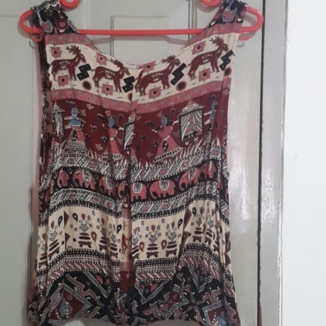 Backless Batik Top