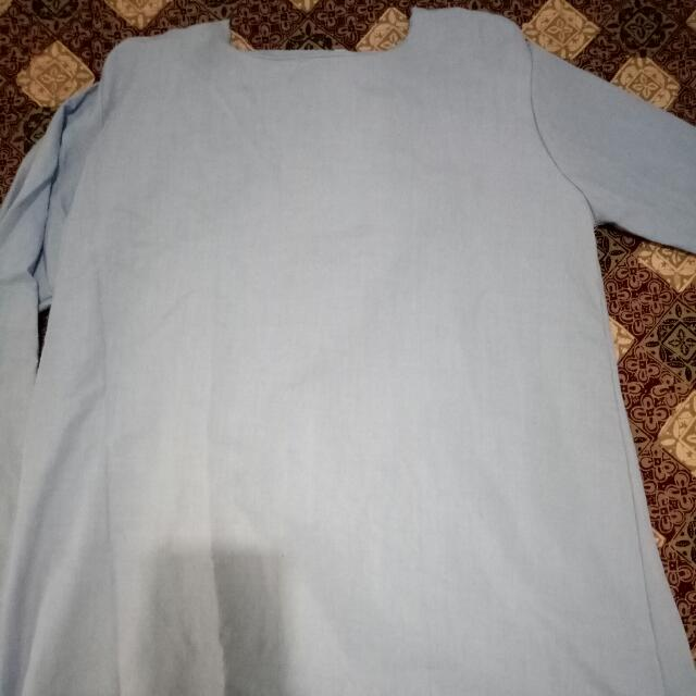 Baju Muslim Pita Di Belakang