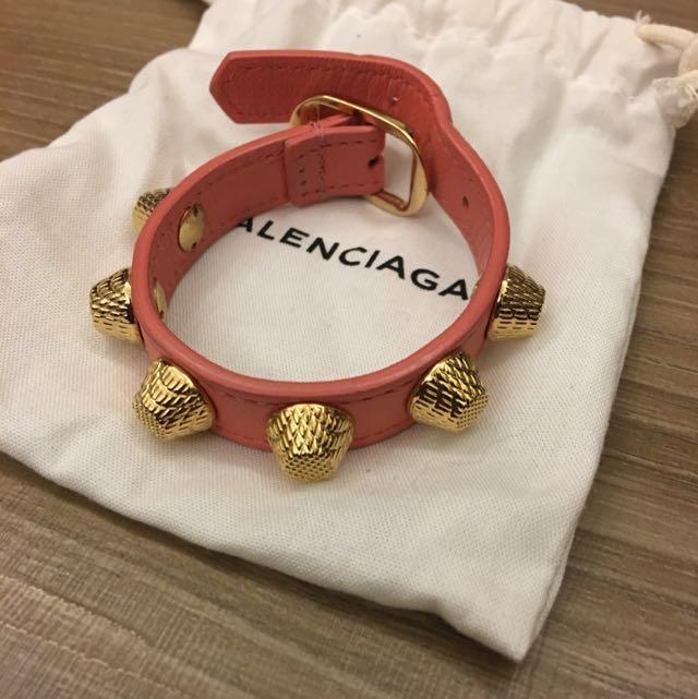 Balenciaga 大金扣皮手環