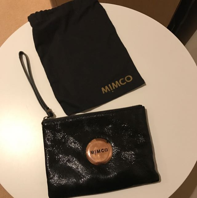Black Mimco pouch