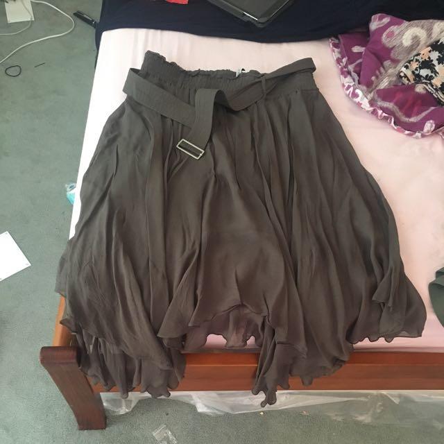 Calf Length Varied Length Gypsy Skirt