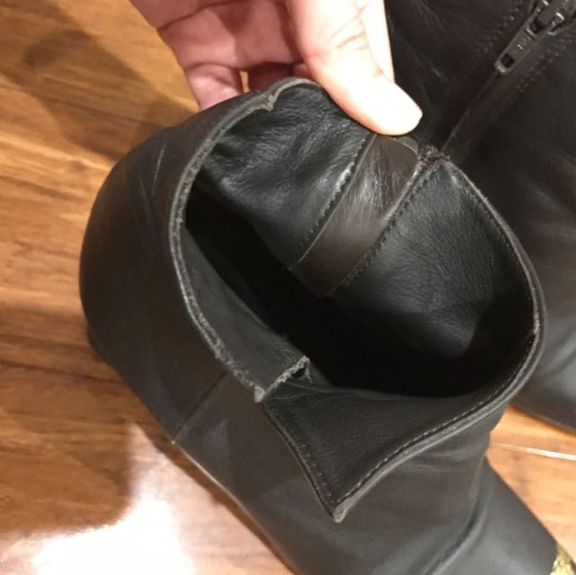 CK Calvin Klein Boots Calf Leather Size 36