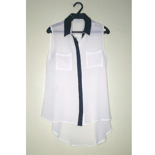 Repriced!!! Cotton On Long Back Sheer Blouse