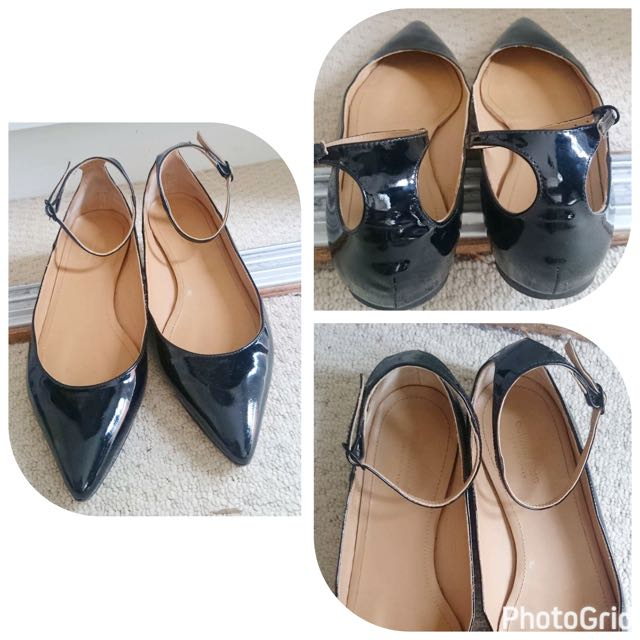 Country Road Black Shoes / Flats