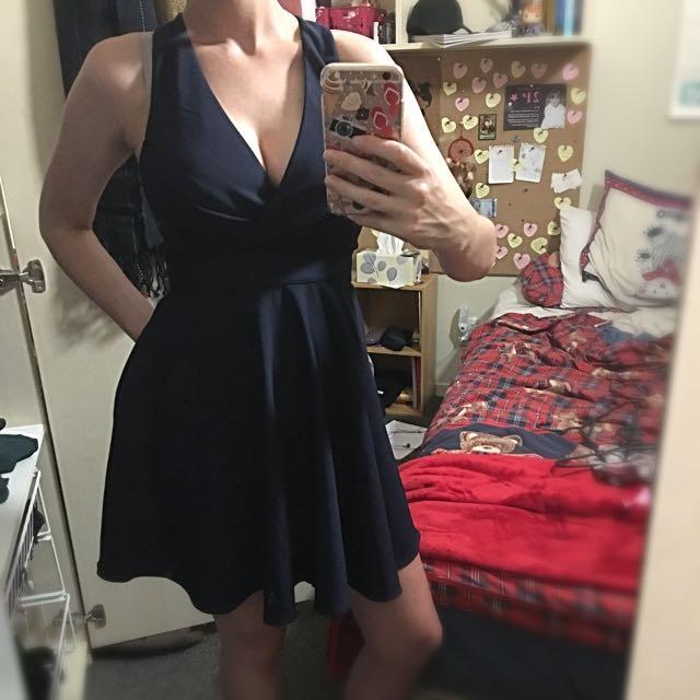 Dotti Dark Blue Dress #under20