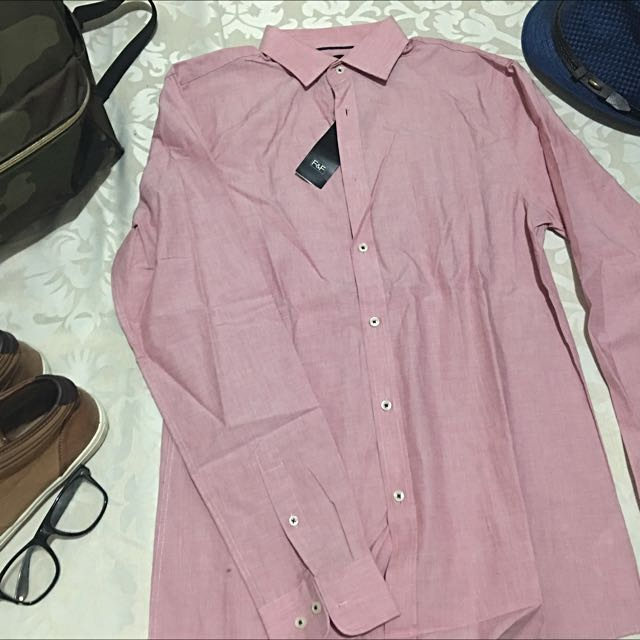 F&F TAILORED FIT L/S POLO