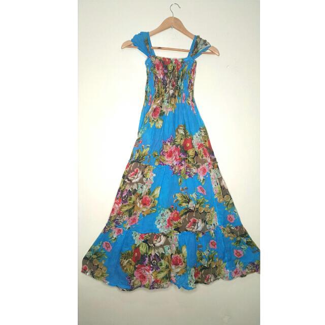 REPRICED!!! Floral Beach Maxi Dress