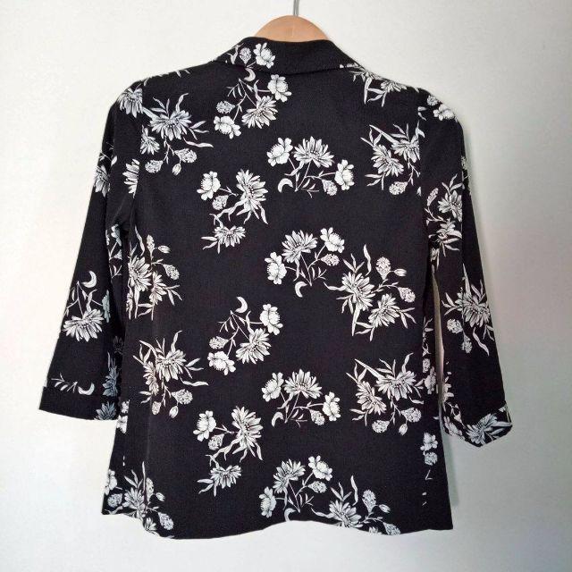 Floral Print - Open Front Jacket
