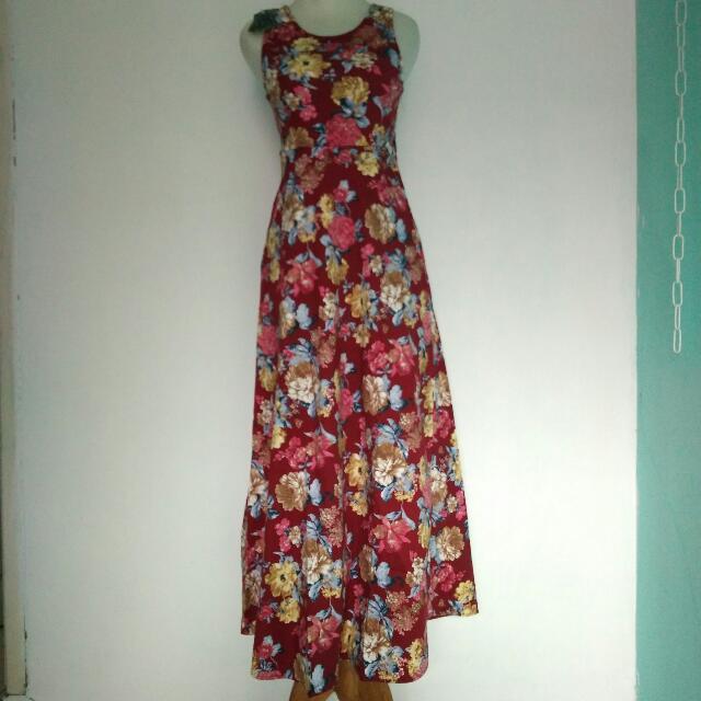 Flower Dress Merah