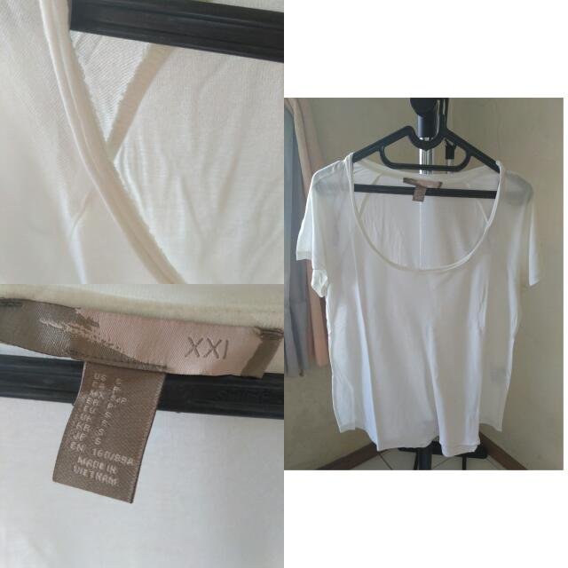 Forever 21 White Loose Top