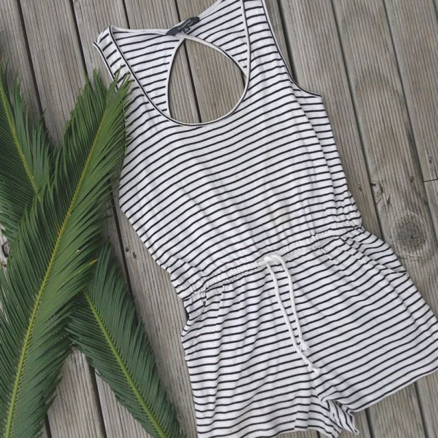 GLASSONS STRIPE PLAYSUIT