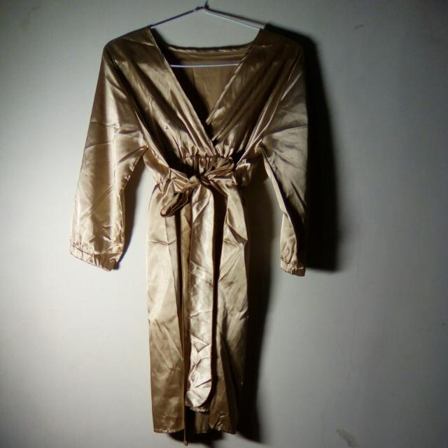 Golden Ribbon Dress