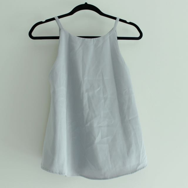 *NEW* Gray Satin Camisole Top