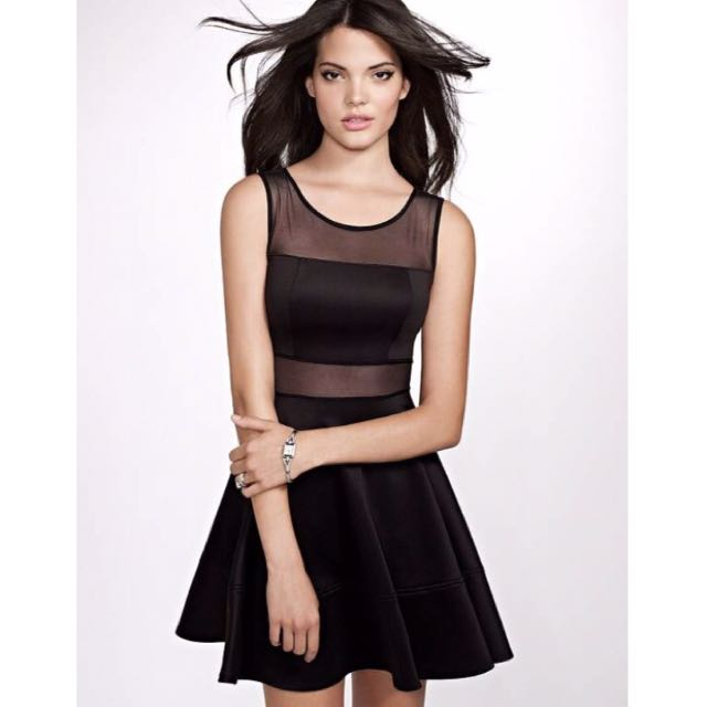 GUESS Scuba And Mesh Mixed Dress