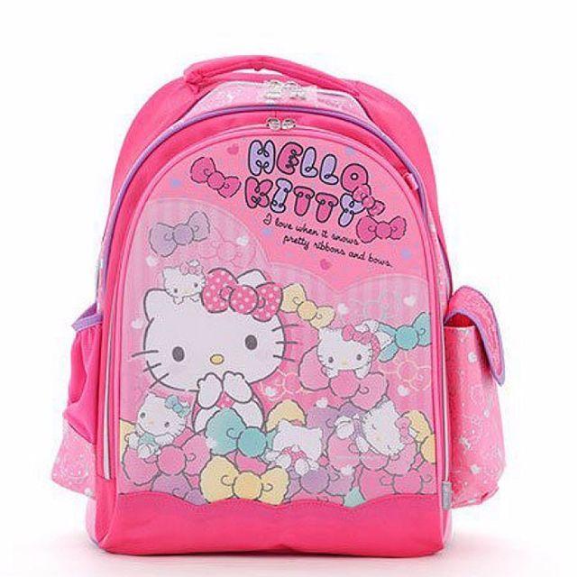 【現貨+預購】凱蒂貓/HELLOKITTY:健康護脊兒童書包(尺寸:320x400x180mm)_免運。