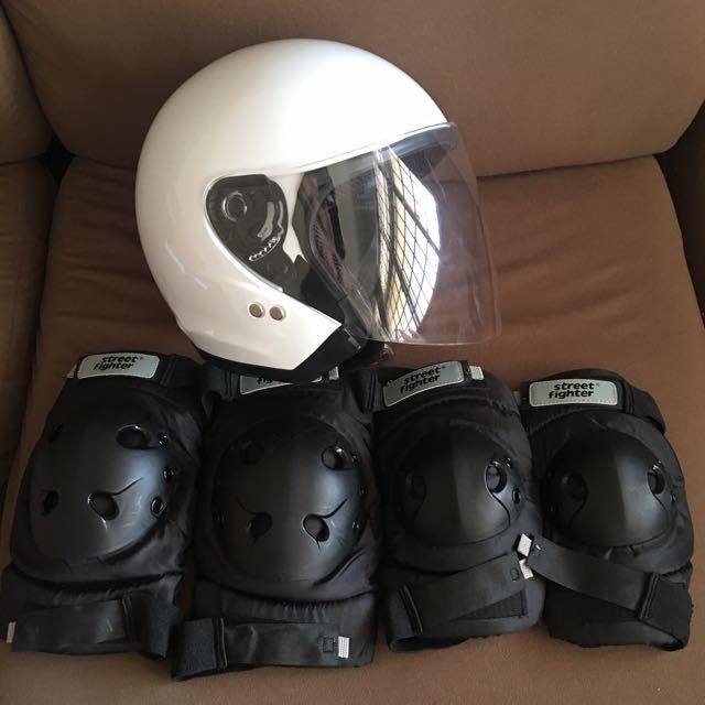 Helmet + Protectors