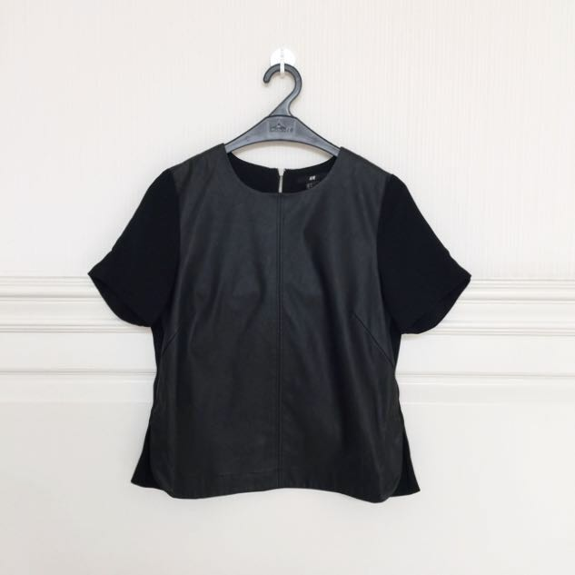 H&M Leather Top - 34