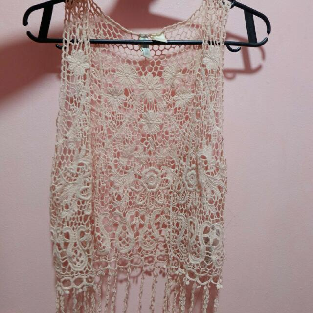 H&M Off Pink Chaleco