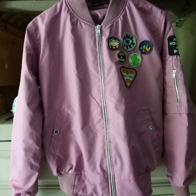 Jaket Bomber Cozymarkets Pink