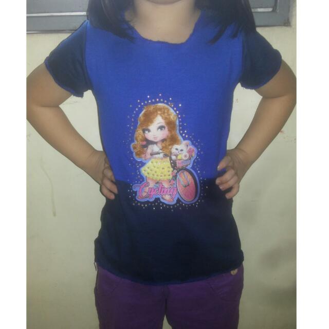 Kaos Anak Perempuan 4-6th
