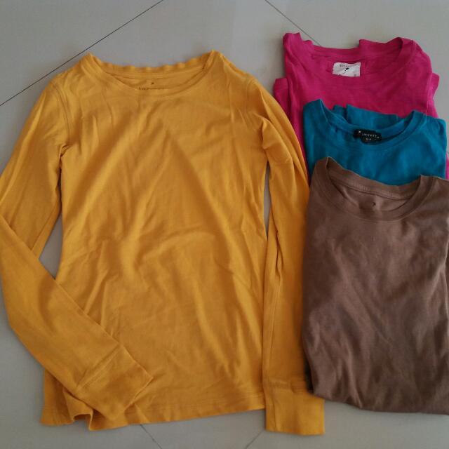 Kaos Lengan Panjang Bahaj Adem Merk forever 21 Size S