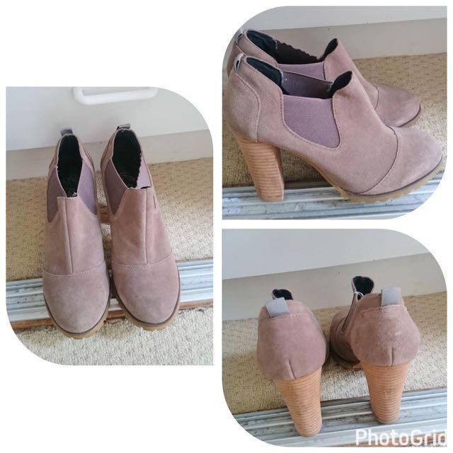 Khaki Ankle Boots