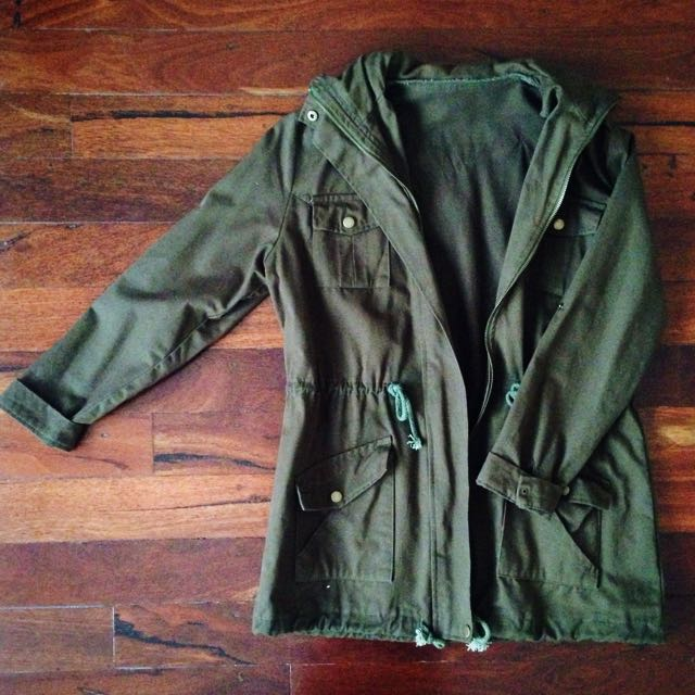 Khaki trench jacket