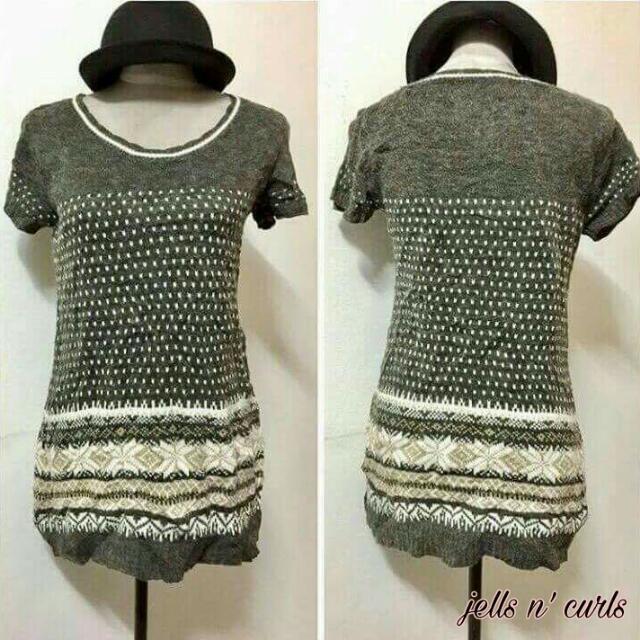 Knit Long Blouse