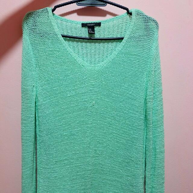 Knitted Mint Green