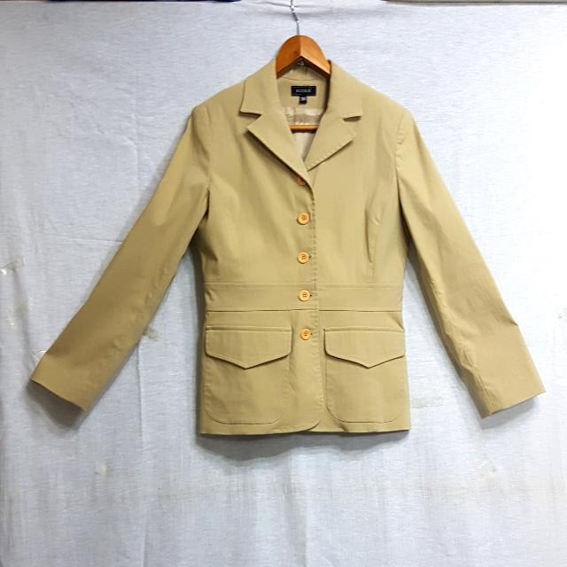 【超狂小阿姨】KOOKAI棕色獵裝外套  #運費我來出