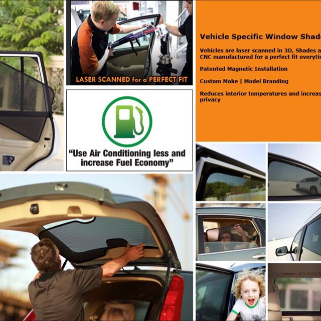 Laser Shades - The ORIGINAL MAGNETIC Custom Fit Sunshade for