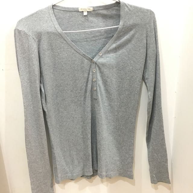 Massimo Dutti Plain Grey Shirt