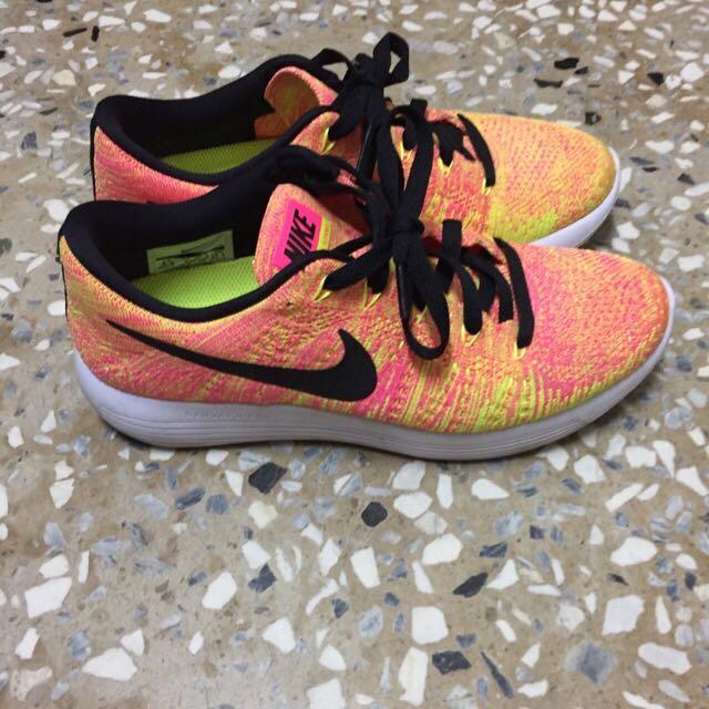 Nike Lunarepic 橘黃編織鞋