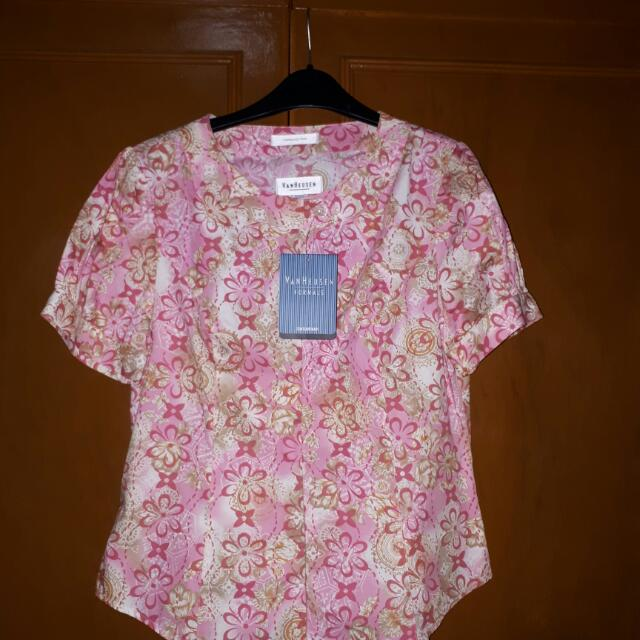 P1,000 Off On Floral Pink Blouse