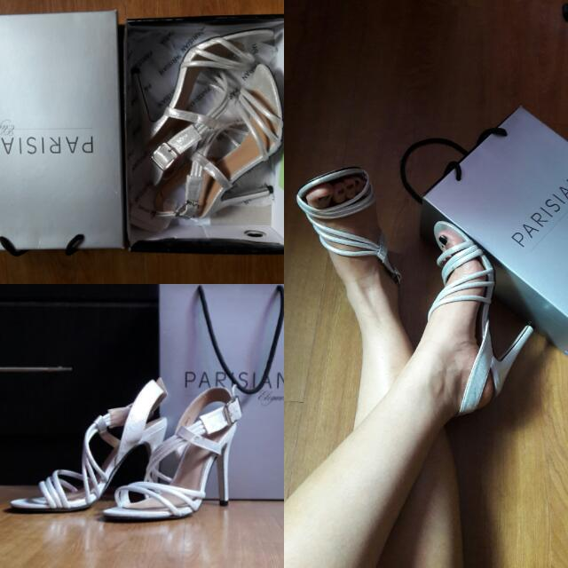 Parisian Silver Stiletto Heels