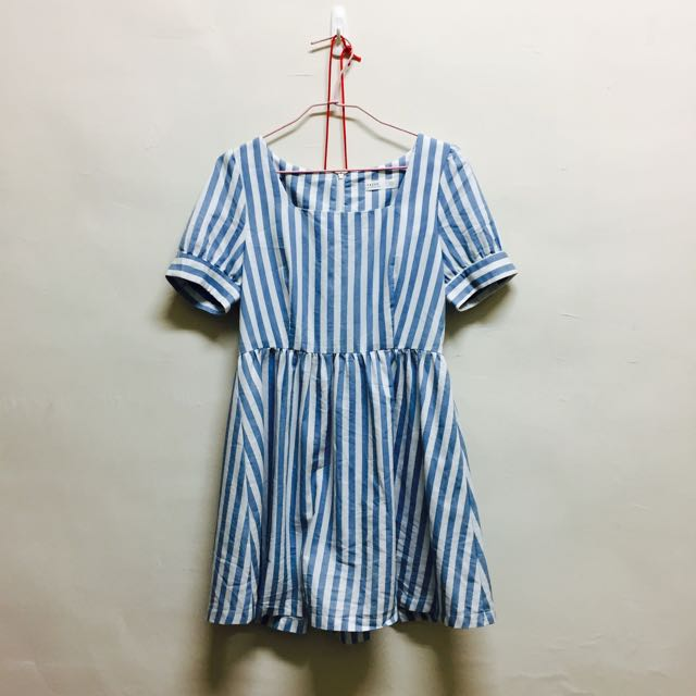 Pazzo 藍色條紋洋裝