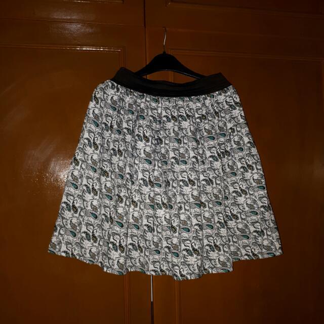 Peacock Print Skirt