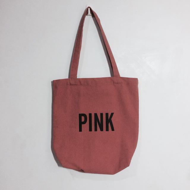 豆沙暗粉Pink帆布袋 #轉轉來交換