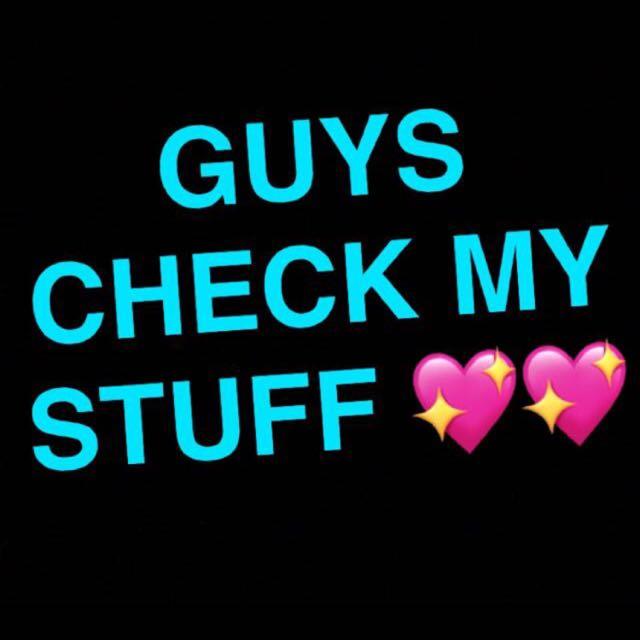 Plz check off my stuff!