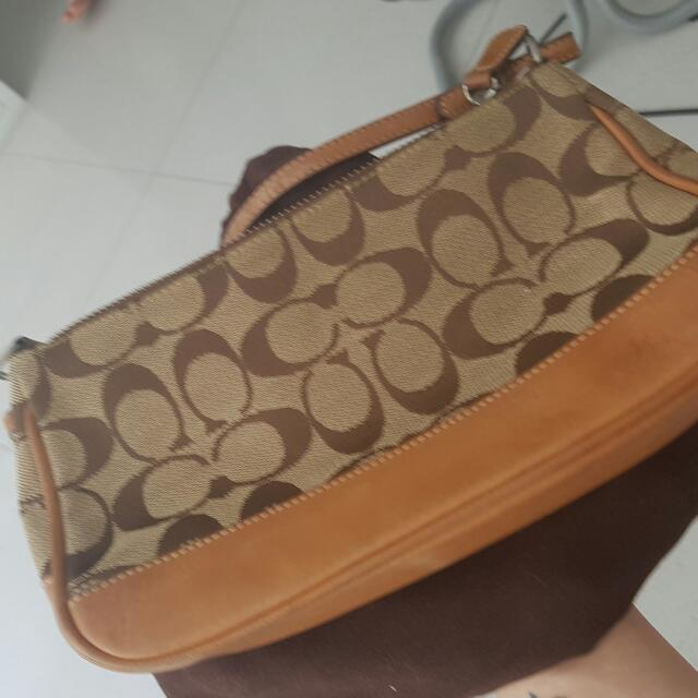 Pre Loved Coach Small Shoulder Bag With Dustbag