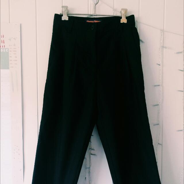 Princess Highway Black High Waisted Pants
