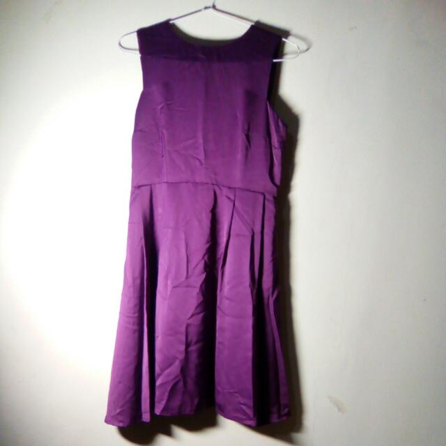 Purple Satin Dress