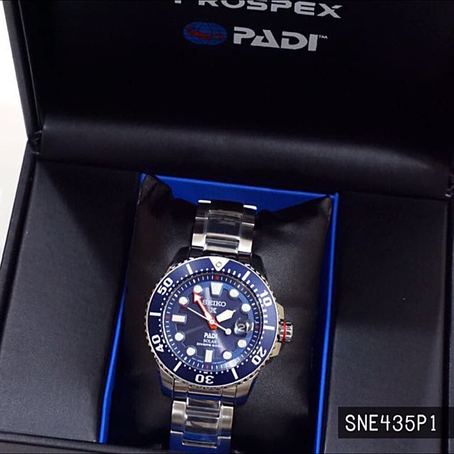 a75a81bb1 Seiko Prospex PADI Special Edition Solar Diver's 200M SNE435 SNE435P1  SNE435P Man Watch, Men's Fashion, Watches on Carousell