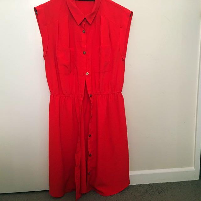 Red Shirt Dress From Dotti #under20