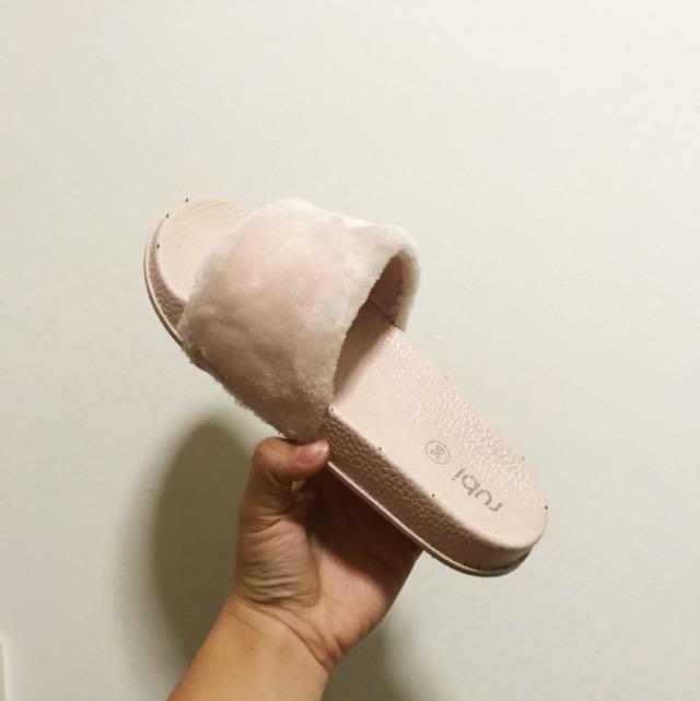 Rubi Shoes Faux Fur Slides