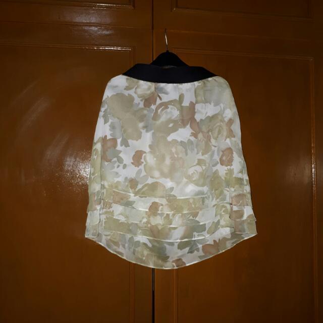 Semi-formal Printed Skirt