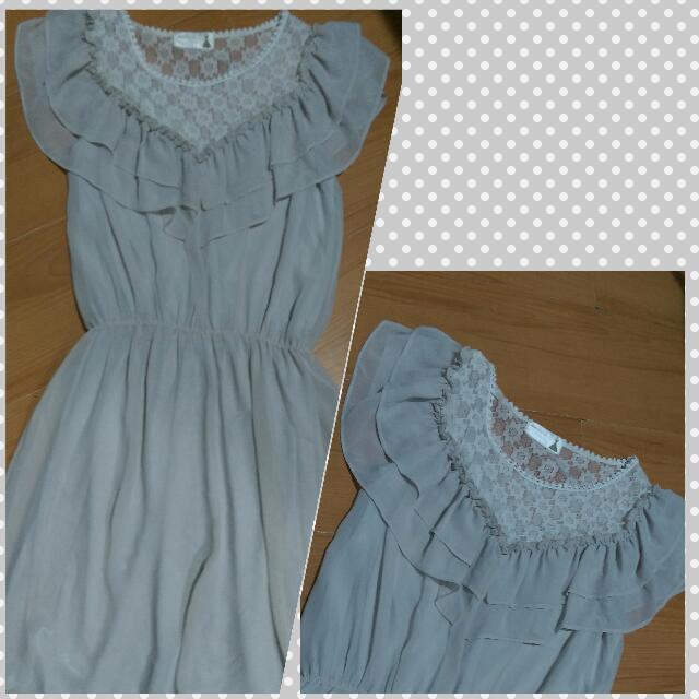 Sheer Grey Dress