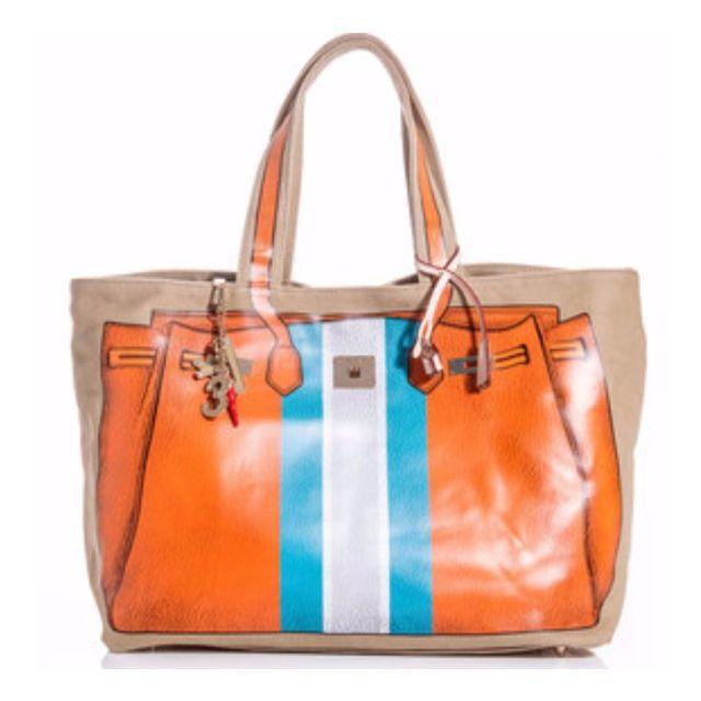 da16536201d NEW PRICE! Shopper V73 Bandes Orange Handbag, Luxury, Bags & Wallets ...