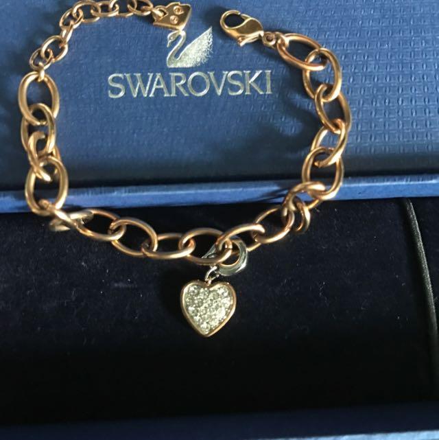 Swarovski Heart Bracelet Rose Gold Women S Fashion Jewellery On Carou