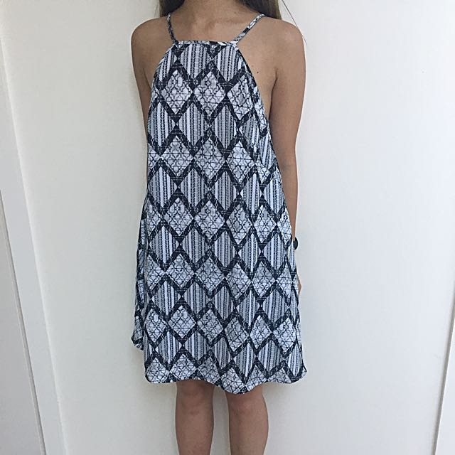 the fifth High Neck Shift Pattern Dress AU XXS